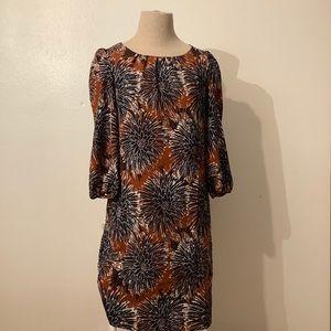 Brown floral H&M dress - size 4